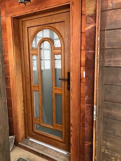 porte d'entrée aspect bois