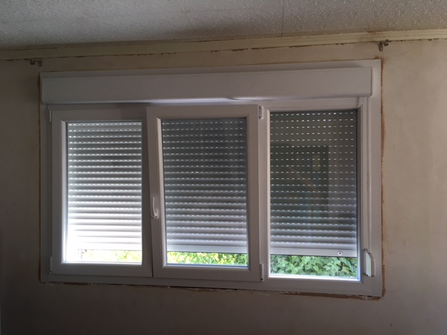 fenêtre pvc avec volet roulant intégré